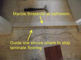 Laminate Floor Transitions To Tiles by Where To End Laminate At Doorways