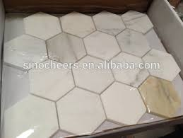 calacatta gold marble hexagon tile 6 inch polished buy marble