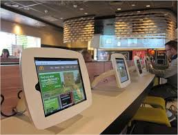 Self Order Kiosks Digital Information Displays Dining Room Computer Stations For Consumers And