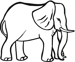 Elephant Big Animals Coloring Pages