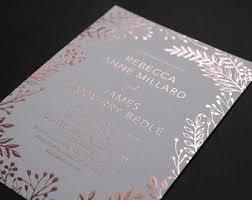 Rose Gold Foil Copper Invite Letterpress Wedding Invitations Rustic Bohemian Set 20