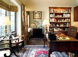 Save Home Office British Colonial House Interior Design Picture