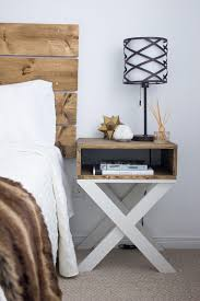 Build A Reclaimed Wood Desk by Diy Nighstand Dark Wood With X Legs Kels Place Pinterest