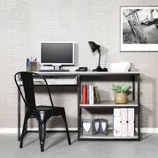 bureau industriel metal bois bureau industriel en métal gris et bois blanchi made in meubles