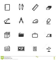 objet de bureau vecteur réglé d icône d objet de classe d école de bureau