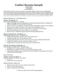 Cashier Resume Sample Download Education In Examples