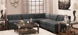 Cindy Crawford Microfiber Sectional Sofa by Jonathan Louis Raymour Flanigan Throughout Raymour And Flanigan