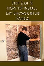 Acrylic Bathtub Liners Diy by 5 Steps To Install Decorative Diy Shower And Tub Wall Panels