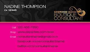 Bedroom Kandi Horizontal Business Card 16 00 Le