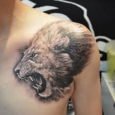 Heart Of A Lion Done By Elvin Tattoo Singapore