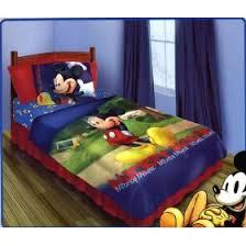 mickey mouse main street juvenile twin bedding set 4pce