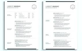 2 Page Resume Free Templates For Pages Template Word Best The Zip Two