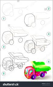 Page Shows How Learn Step By Stock Vector 473409721 - Shutterstock How To Draw A Vintage Truck Fire Step By Teaching Kids How Draw Cartoon Dump Truck Youtube Monster Step Trucks Transportation Speed Drawing Of To A Race Car Easy For Junior Designer An F150 Ford Pickup Sketch Drawing Dolgularcom Click See Printable Version Connect The Dots Delivery With Hand Stock Vector Art Illustration 18 Wheeler By 2 Ways 3d Hd Aston
