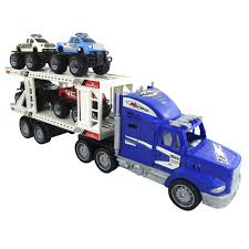 100 Mini Monster Trucks Toy Truck With Trailer Towing 4 Play Set
