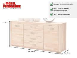 sideboard mit 4 schubladen kernbuche massiv geölt 163 cm fenja
