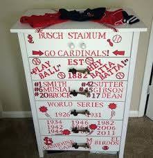 Walmart Dressers For Babies by Stl Cardinals Dresser For Baby Nursery Diy Cardinals Dresser Go