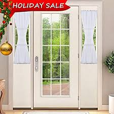 Sidelight Window Curtain Panel by Amazon Com White Sheer Sidelight Curtain 36 U0027 Wide 79