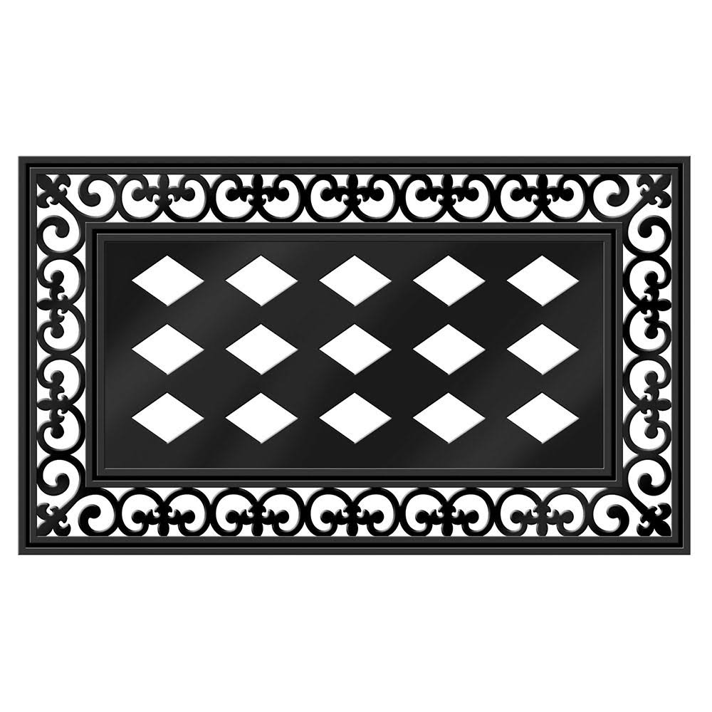 Evergreen Rubber Decorative Floor Mat - Pvc, Black