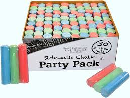 Amazon.com: Chalk City - Party Pack Sidewalk Chalk 30 Jumbo 3 -Pack ...