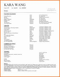 Child Acting Resume Template No Experience Actor Templates Intoysearch