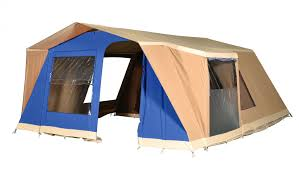 toile de tente 4 chambres tente aruba forme vintage en coton cabanon le spécialiste de la