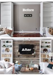 How To Create A Wood Pallet Accent Wall Living Room Wallpaper WallTv Ideas