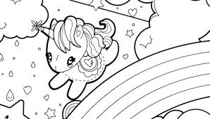 Unicorn Coloring Pages Top Free Printable Online Rainbow Realistic Flying