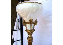 Antique Torchiere Floor Lamp Glass Shade Best Glass 2017