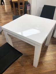 100 White Gloss Extending Dining Table And Chairs Brand New Table And 4 Chairs In Wigan For 30000 For Sale