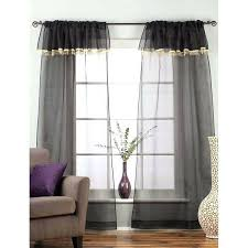 Black Sheer Curtains Walmart by Sheer Black Curtains Black Sheer Curtain Scarf Image 1 Sheer Black
