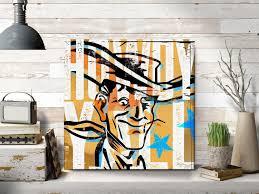 100 Pop Art Home Decor Howdy Large Canvas Farmhouse