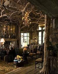 Unique Natural Themed House From Ancient Time Exotic Living Room