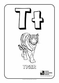 Letter T Coloring Alphabet