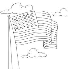 Coloring American Flag Page