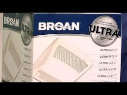 Humidity Sensing Bathroom Fan by Broan And Nutone Ultra Humidity Sensing Bath Fans Youtube