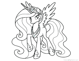 Princess Cadence Coloring Pages Online My Little Pony Page Colouring In And Shining Armor