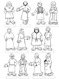 Jesus And The 12 Disciples Coloring Page