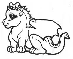 Dragon Beauty Free Coloring Page O Animals Kids Pages