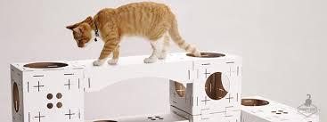 blocks maison modulable pour chat en cube de