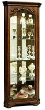 Pulaski Concave Corner Curio Cabinet by Chintaly Imports Curios All Glass Triangle Curio