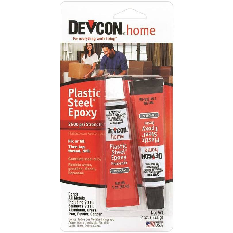 Devcon Home Plastic Steel Epoxy - 2oz