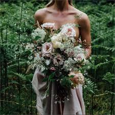 Pastel Coloured Rustic Wedding Bouquet