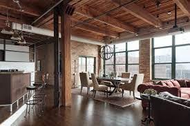 104 Urban Loft Interior Design Industrial Dining Room Denver By Ck Houzz