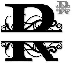 Alphabet Monogram Clipart 51