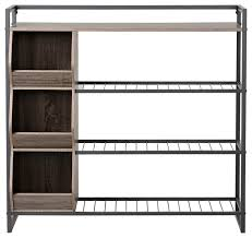 Homestar 4 Tier Wood and Metal Shoe Rack View in Your Room