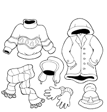 Winter Clothes Coloring Pages Free Printable