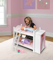 amazon com badger basket doll bunk beds with ladder and storage