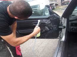 refaire un interieur de voiture une mercedes slk dans un triste état