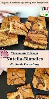 nutella blondies rezept für den thermomix