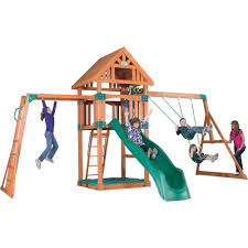 Backyard Discovery Skyfort II All Cedar Playset-6113com - The Home ... Shop Backyard Discovery Prestige Residential Wood Playset With Tanglewood Wooden Swing Set Playsets Cedar View Home Decoration Outdoor All Ebay Sets Triumph Play Bailey With Tire Somerset Amazoncom Mount 3d Promo Youtube Shenandoah